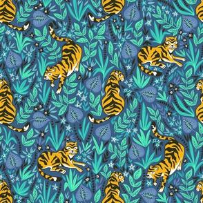 Cute tigers in the jungle