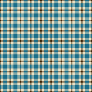 Blue Brown Plaid