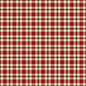 Red Brown Plaid