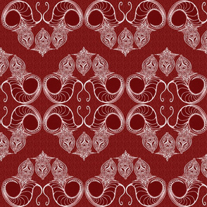 Line_Drawing_Filigree_Motif_1_Brocade_All_Red