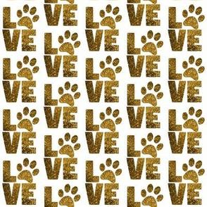 golden dog love