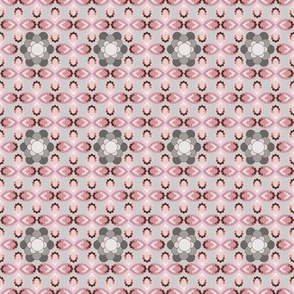 Pink and Gray Petals and Beads