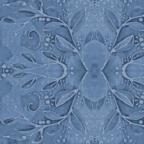 leaf swirl blue