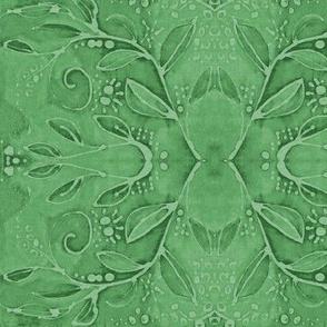 leaf swirl green bright