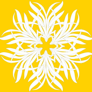 grass flower white on yellow