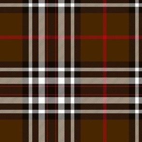 """Southdown tartan - 6"""" brown/black/white"""