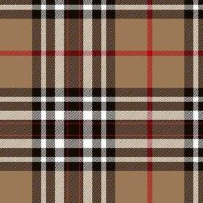 """Southdown tartan - 6"""" tan/black/white"""