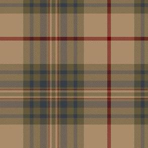 """Southdown tartan - 6"""" tan/grey/brown"""