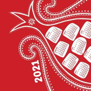 German 2021 Calendar, Monday / Pomegranate