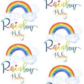 "3"" Rainbow Baby - All Rainbow Fonts"