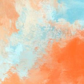 Hawaiian Sky Clouds Sunset - Blue Orange