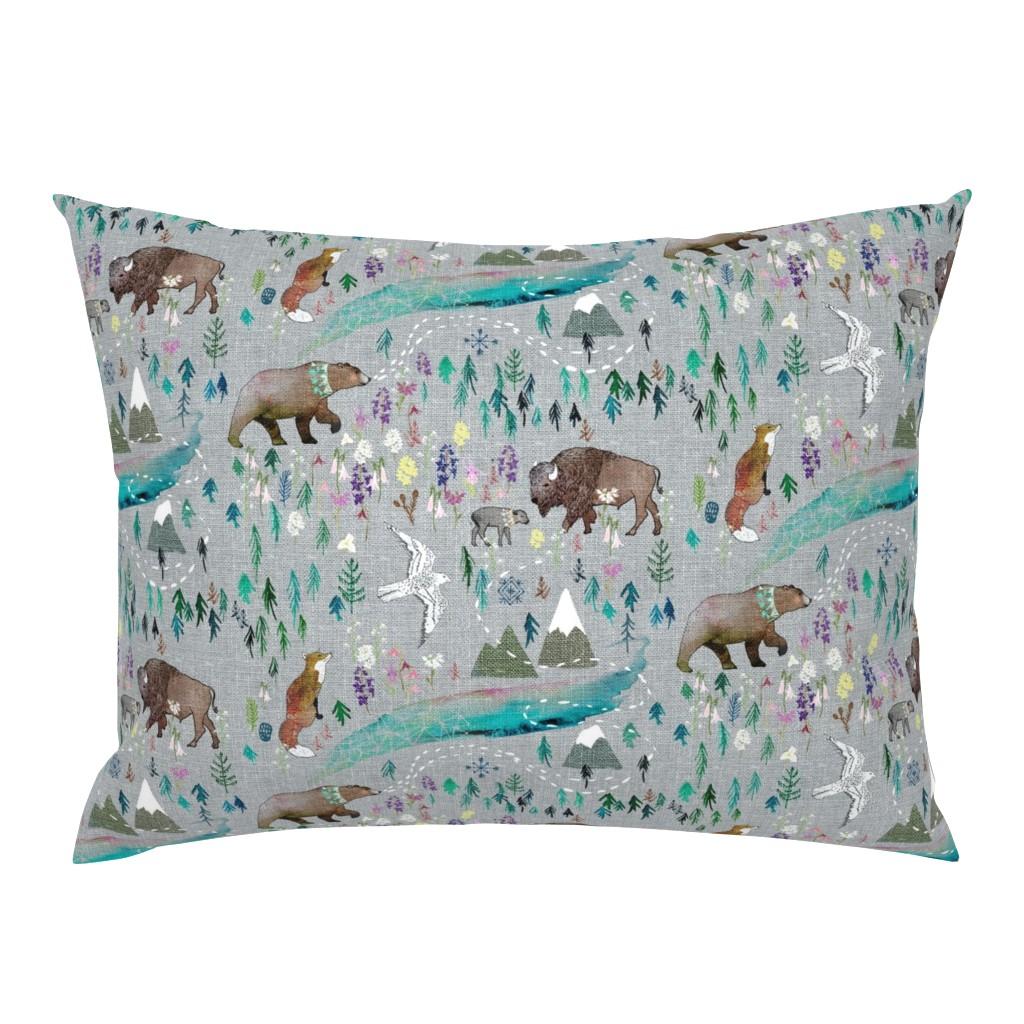 Campine Pillow Sham featuring Summer Aurora  by nouveau_bohemian