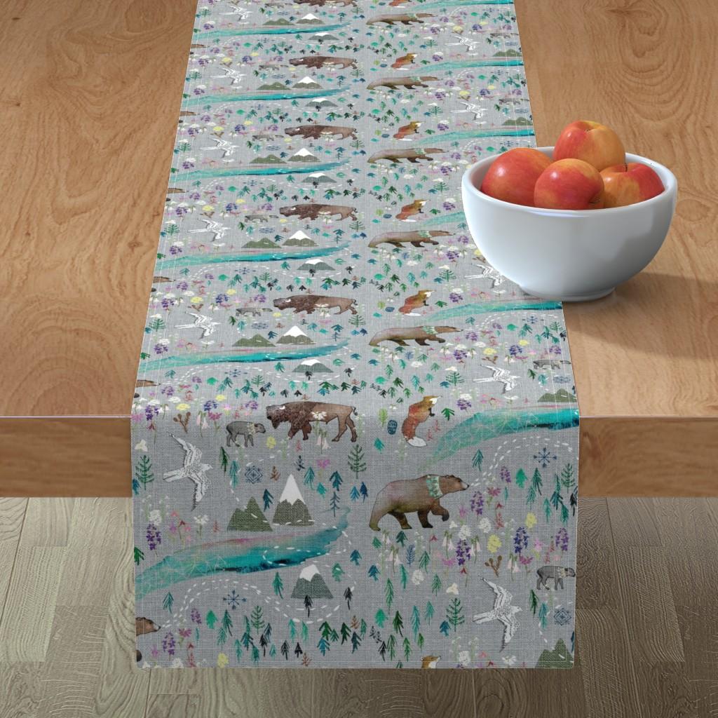 Minorca Table Runner featuring Summer Aurora  by nouveau_bohemian
