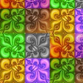 Mardi Gras Fleur De Lis Diagonal