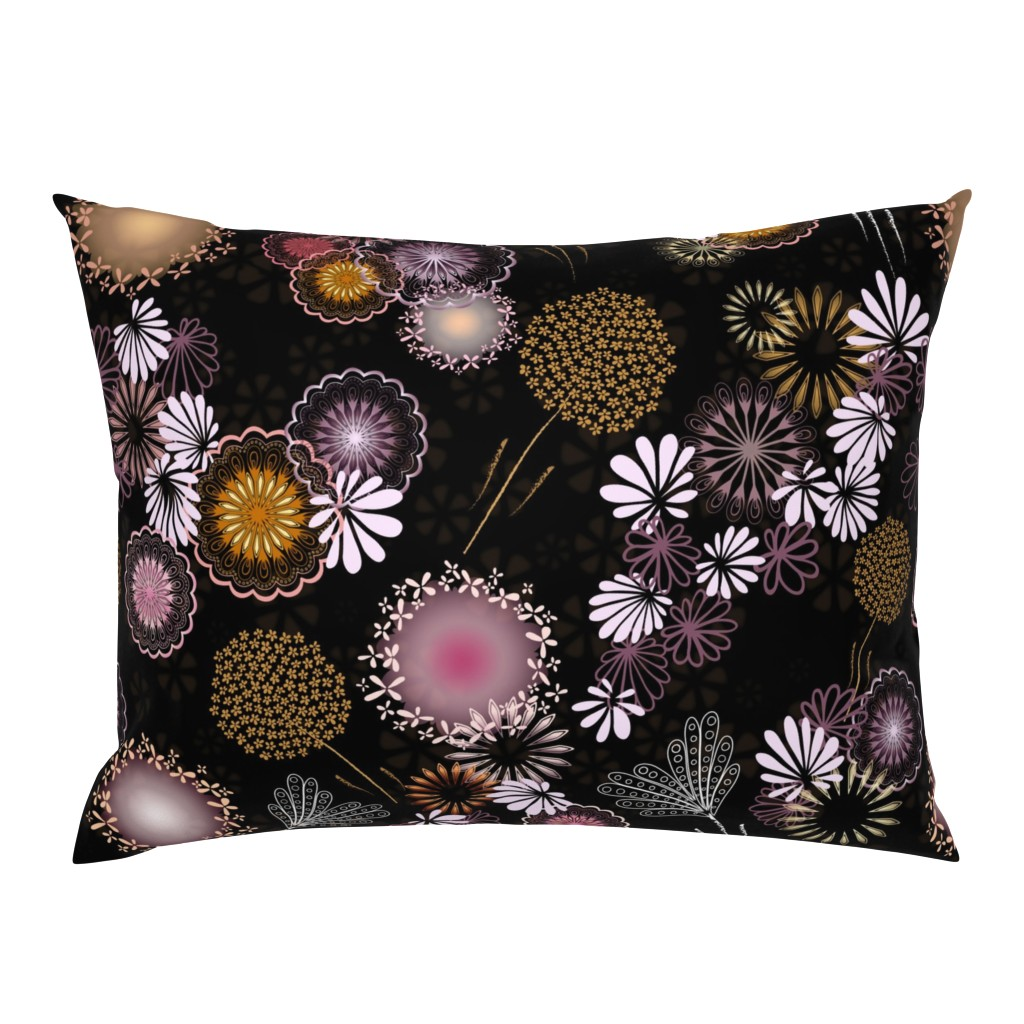 Campine Pillow Sham featuring Hawaiian Fireworks - Flowers of the Sky by paula_ohreen_designs