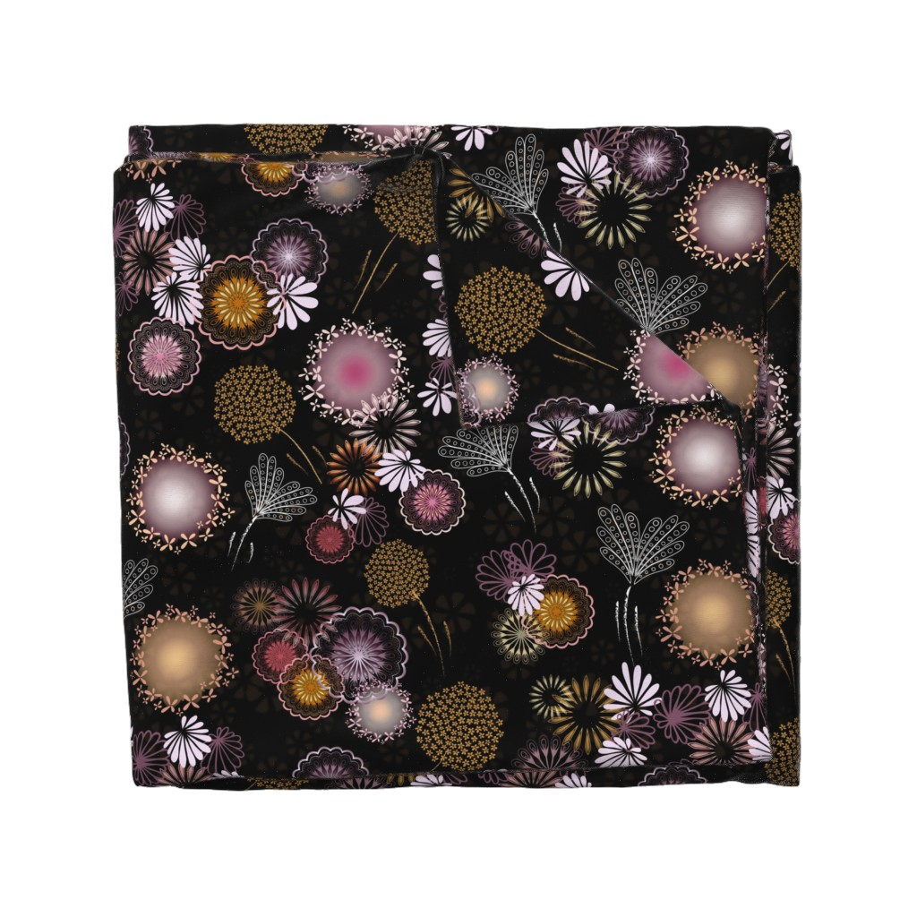 Wyandotte Duvet Cover featuring Hawaiian Fireworks - Flowers of the Sky by paula_ohreen_designs