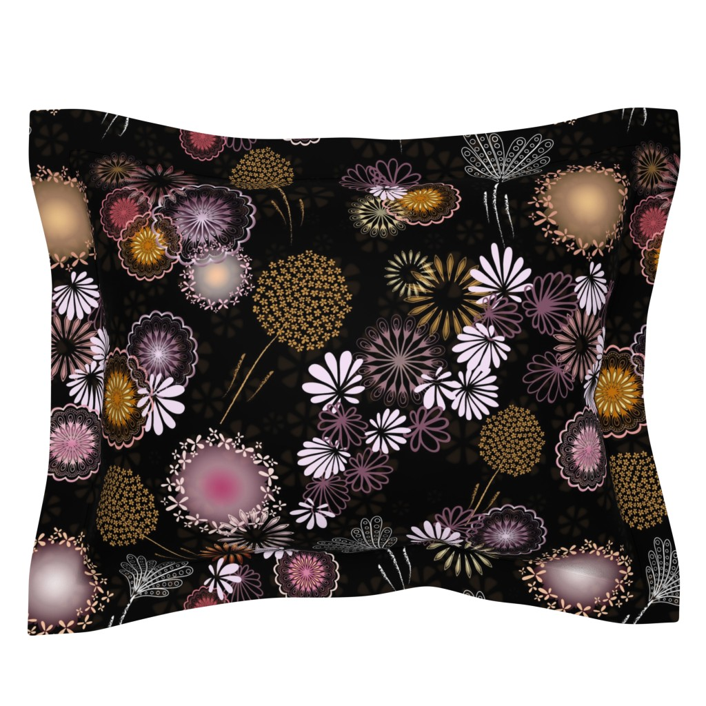 Sebright Pillow Sham featuring Hawaiian Fireworks - Flowers of the Sky by paula_ohreen_designs