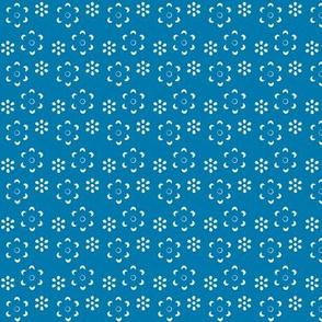 Court & Spark - Scandi Floral Cutout White on Blue