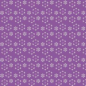 Court & Spark - Scandi Floral Cutout White on Purple