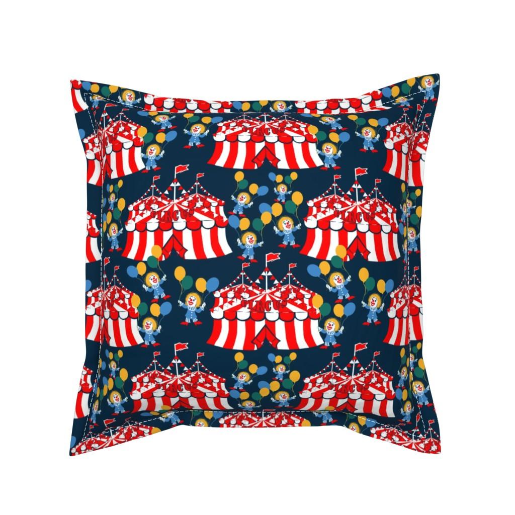 Serama Throw Pillow featuring Circus_Grannies by artonfabric