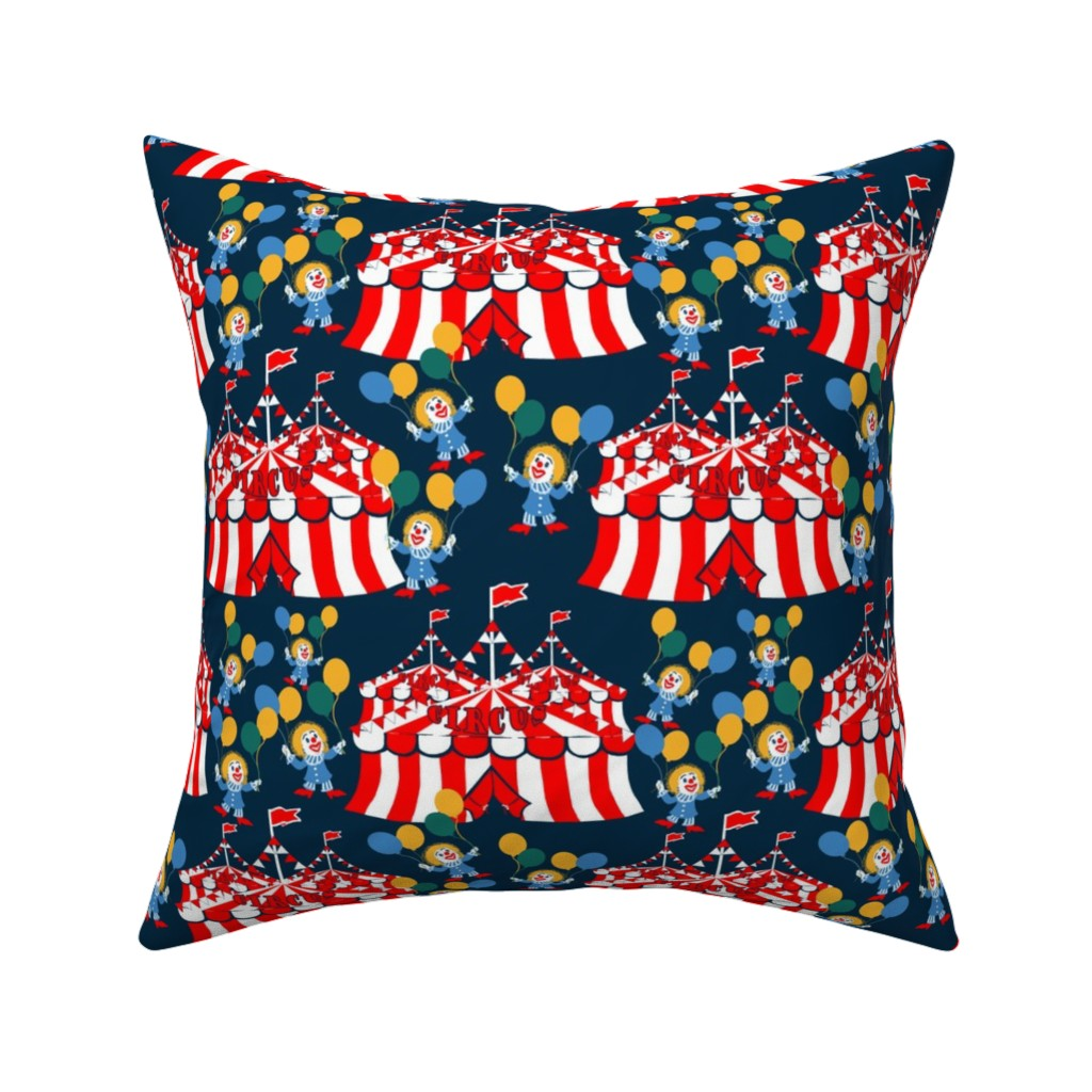 Catalan Throw Pillow featuring Circus_Grannies by artonfabric