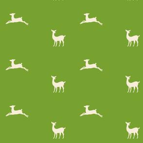 Deer 2 -  meadow cream