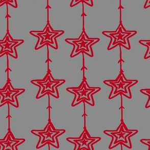 Christmas Stars gray-red