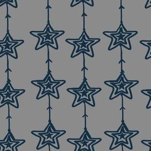 Christmas Stars gray-blue