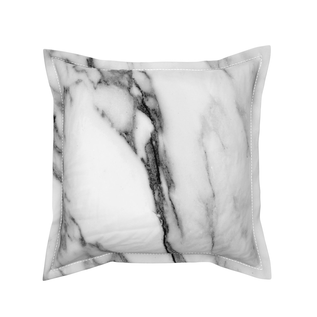 Serama Throw Pillow featuring Marble in Gray and Black by hipkiddesigns