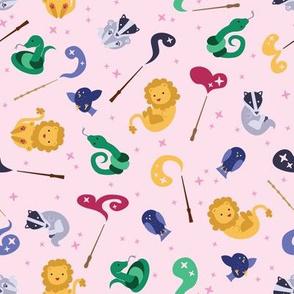 Baby Wizard Animals - Light Pink