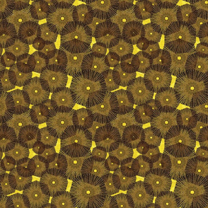brown_yellow pinwheels_in_space_ 9x9