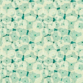ivory_teal pinwheels_in_space_ 9x9