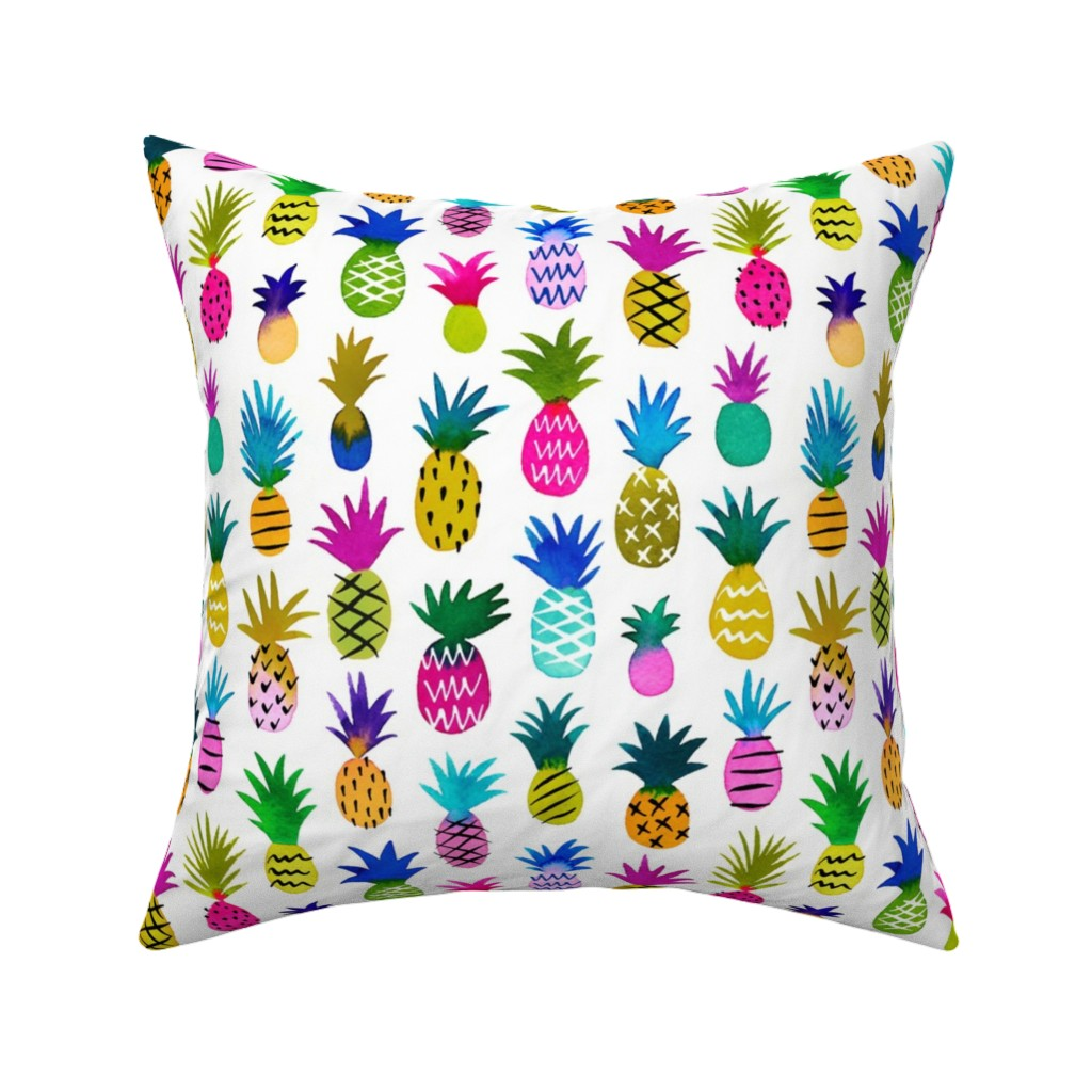 Catalan Throw Pillow featuring pineapple fun by mirabelleprint