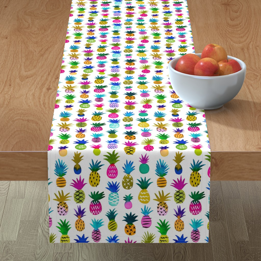 Minorca Table Runner featuring pineapple fun by mirabelleprint