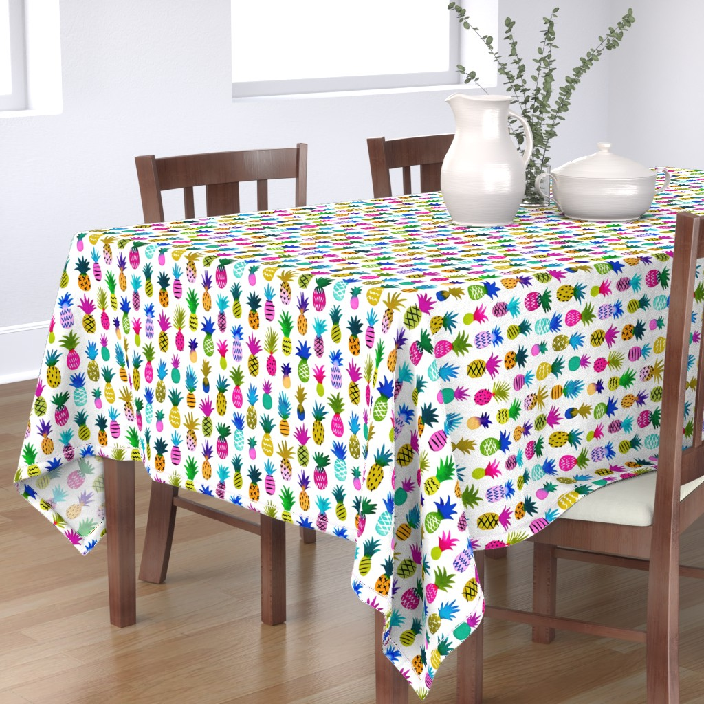 Bantam Rectangular Tablecloth featuring pineapple fun by mirabelleprint