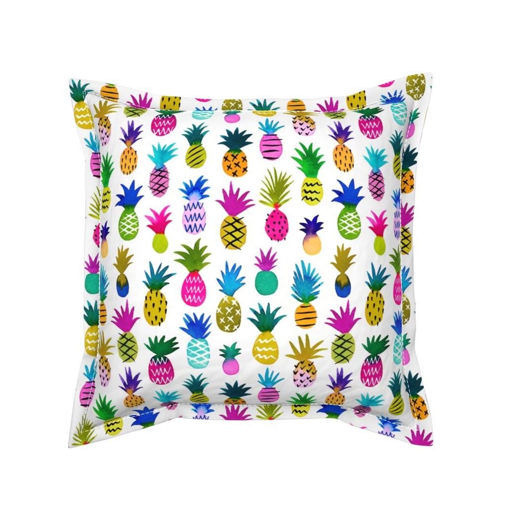 Serama Throw Pillow featuring pineapple fun by mirabelleprint