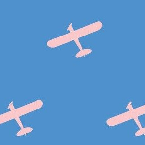 Pink Propeller Plane