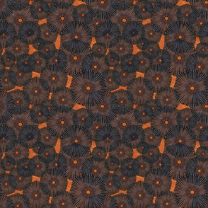 _orange_black pinwheels_in_space  9x9