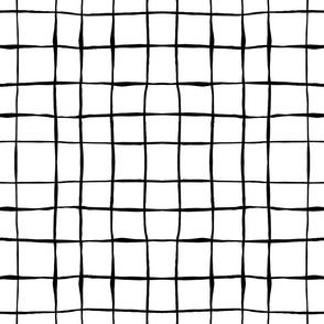 black and white hand drawn grid