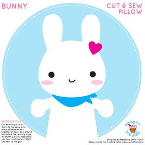 Super Cute Kawaii Bunny Mini Pillow