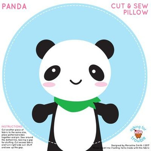Super Cute Kawaii Panda Mini Pillow