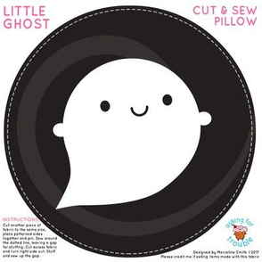 Kawaii Little Ghost Mini Pillow
