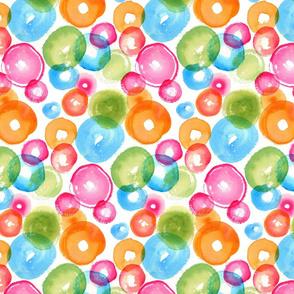 Medium Watercolor Circles