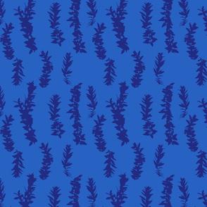 lei strands - azul blue