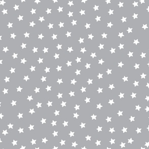Twinkle White Stars on Gray