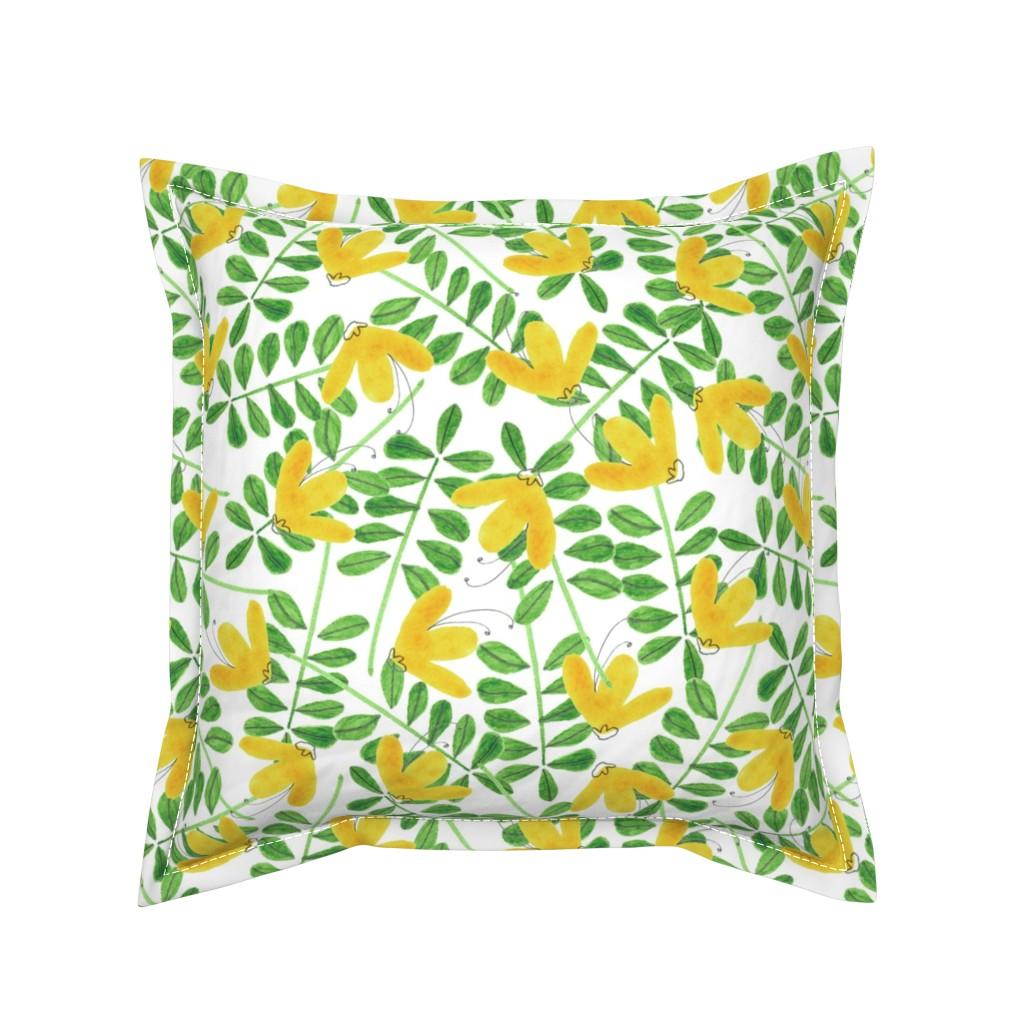 Serama Throw Pillow featuring pattern #8 by irenesilvino