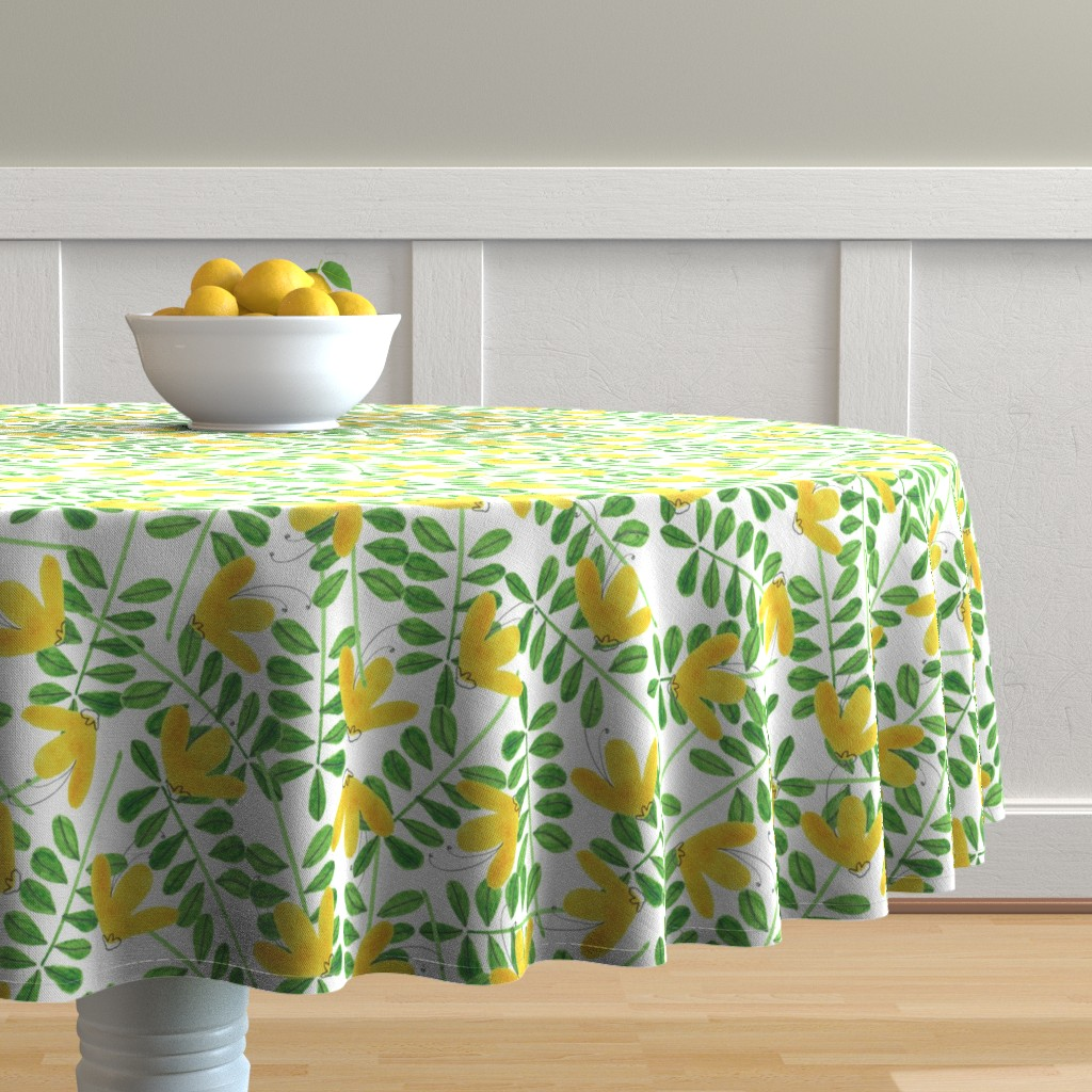 Malay Round Tablecloth featuring pattern #8 by irenesilvino