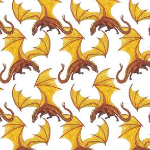 dragon on white