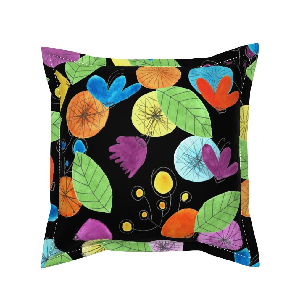 Serama Throw Pillow featuring pattern #1 by irenesilvino