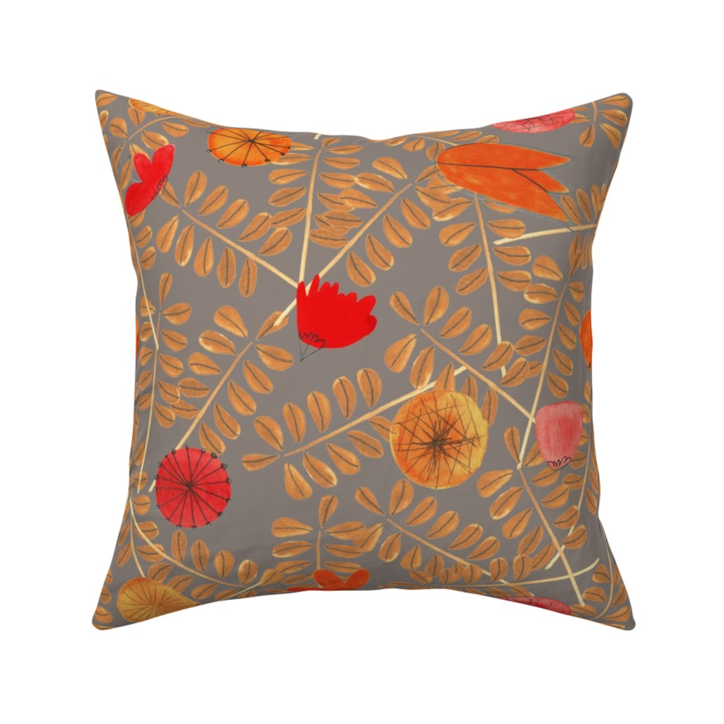 Catalan Throw Pillow featuring pattern #7 by irenesilvino